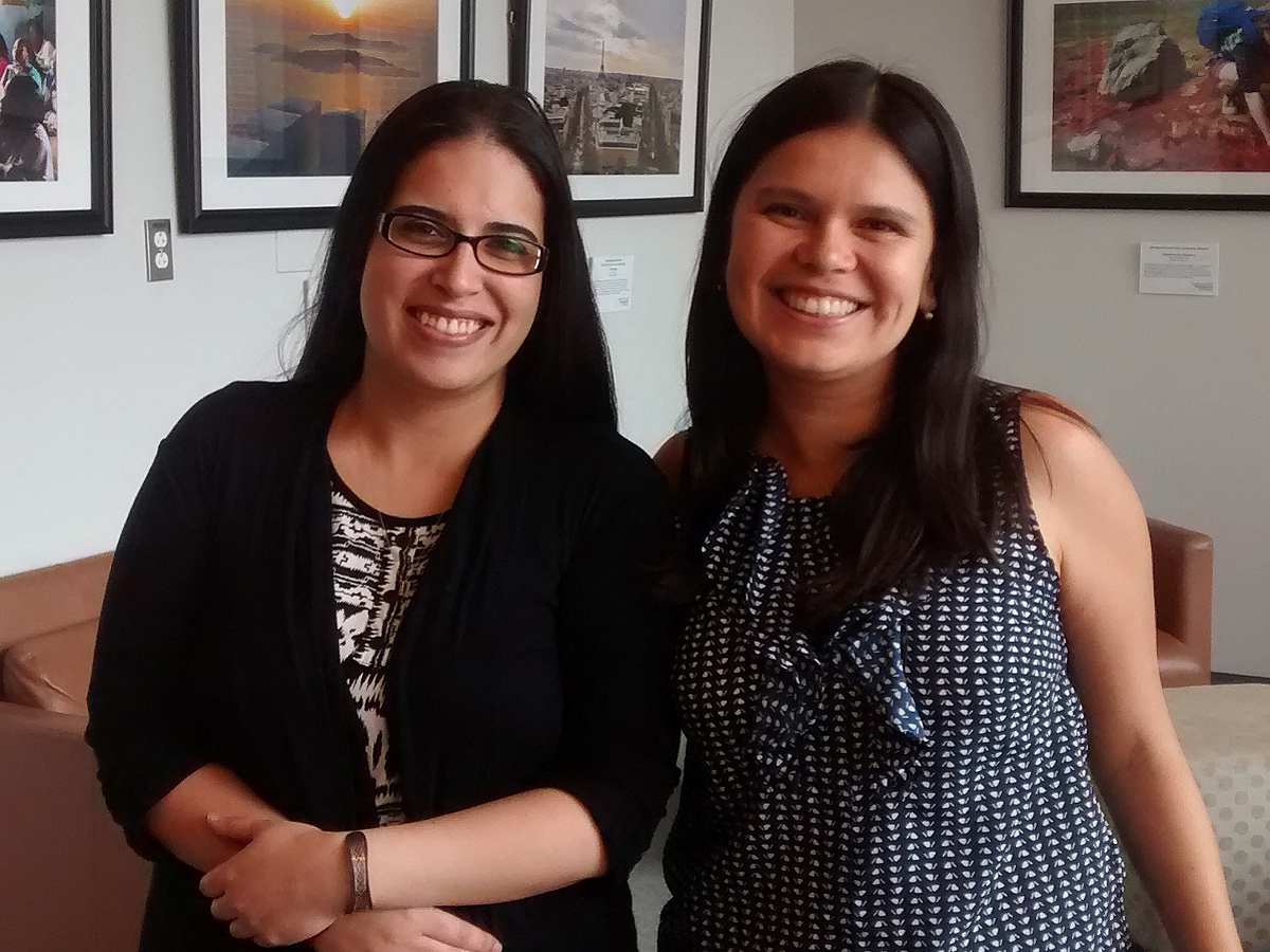 Staff members Maria Silva Ramirez and Laura Villa Torres